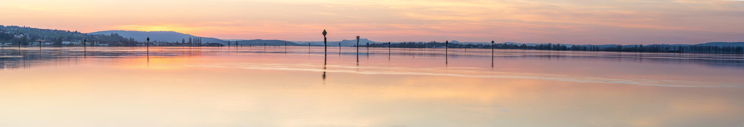 GOLDENER SEERHEIN - Schöne Landschaft Bilder kaufen | Stimmungs Foto als Fineart by Stefan Somogyi Fotografie